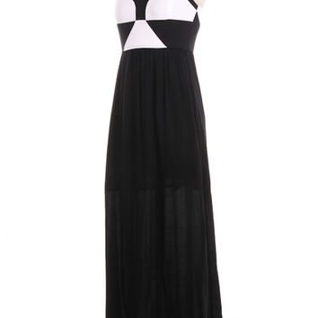 Maxi Black and White Dress