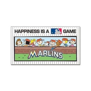 MIAMI MARLINS PEANUTS GANG HAPPINESS IS A GAME COLLECTOR PIN BRAND NEW WINCRAFT