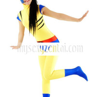 Catsuits & Zentai Lycra Spandex Blue And Yellow Unisex Catsuit [TSE110163] - $36.99