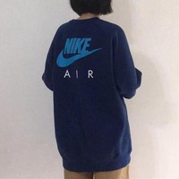"""Nike"" Unisex Sport Casual Classic Letter Logo Print Long Sleeve Sweater Round Neck Tops"