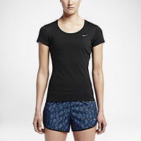 The Nike Dri-FIT Contour Short-Sleeve Women's Running Shirt.