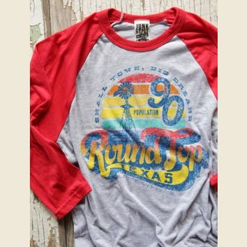 retro round top raglan