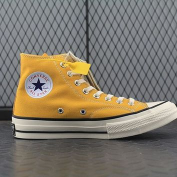 Converse Addict High Tops Fashion Canvas Flats Sneakers Yellow