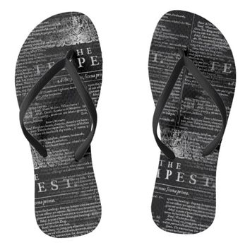 The Tempest Shakespeare Play Flip Flops