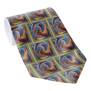 Colorful Waves Dress Neck Tie