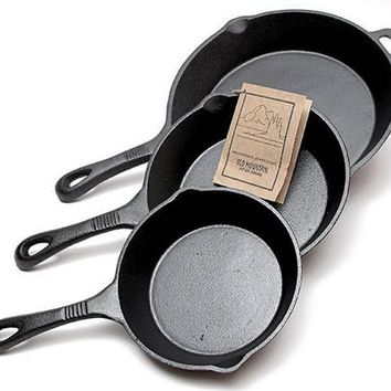 Cast Iron Skillet 3 PC
