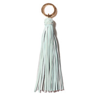 Classic Leather Tassel, Sky Blue, Key Chains