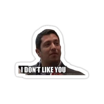 'i dont like you' Sticker by vicuni