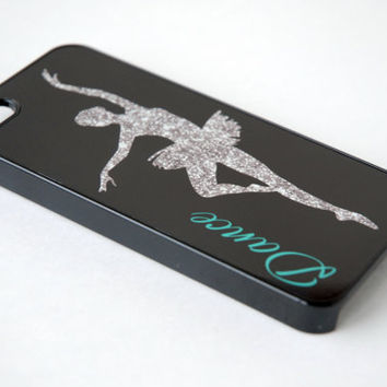 Personalized Phone Case, Glitter Dancer Monogram Phone Case, iPhone 6 Case, iPhone 6 Plus Case