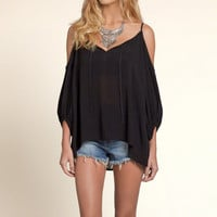 Boho Open Shoulder Top