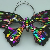 Fun & Cute Butterfly Theme Masquerade Party Mask S5441RB by Kayso International Inc