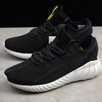 "Adidas Tubular Doom Sock Primeknit Running Sneaker ""Black&White""BY3563"