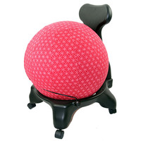 2268 Balance Ball / Yoga Ball Stretch Cover: Red Flower of Life*