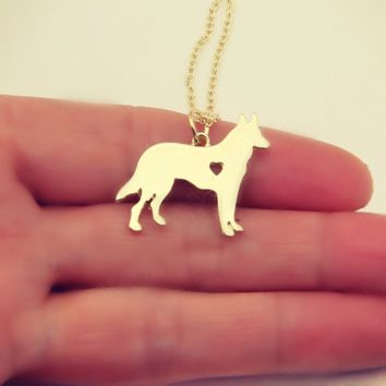 German Shepherd Love - Necklace