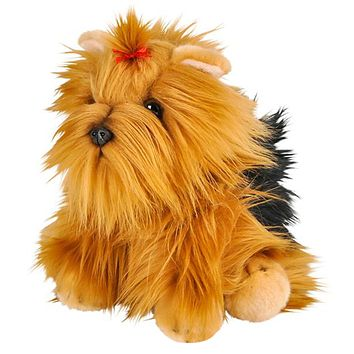 "12"" Stuffed Yorkshire Terrier Dog Plush Floppy Yorkie Animal Kingdom Collection"