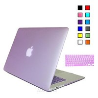 iBenzer - 2 in 1 Soft-Touch Plastic Hard Case Cover & Keyboard Cover for 11 inches Macbook Air 11.6'' (Model: A1370 / A1465), Purple MMA11PU+1