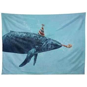 Terry Fan Party Whale Tapestry