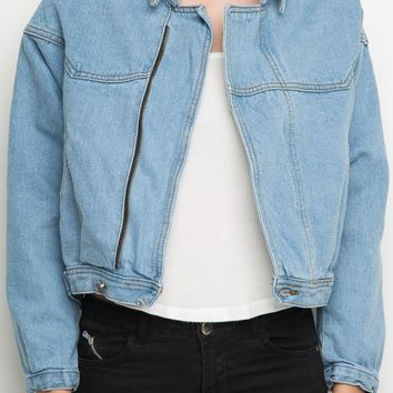 Isabelle Denim Jacket - Brandy Melville