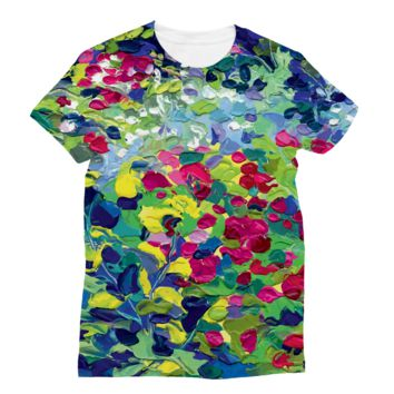 Lilypad Oil Painting Subli Sublimation T-Shirt
