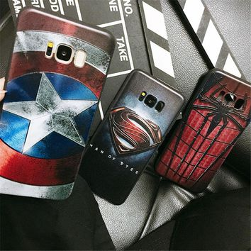 Fashion Superhero Case Marvel Avengers Superman Silicone Soft Phone Case For Samsung Galaxy S7 S7Edge S8 S8Plus S9 S9Plus Note9