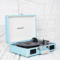 Crosley Mini Cruise Turntable UK Plug in Aqua - Urban Outfitters