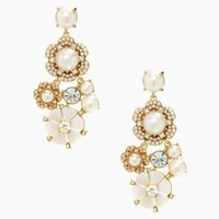 park floral chandelier earrings