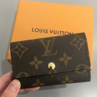 LV Louis Vuitton men and women trendy leather canvas key bag F