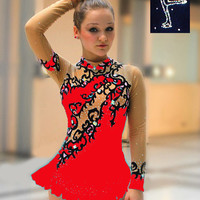 * brand new * Ice figure skating dress roller /4 6 8 10 12 14 16 S M L XL