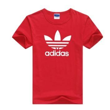 """Adidas"" Men Simple Casual Classic Clover Letter Print Round Neck Short Sleeve Cotton"