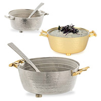 Twisted Container Dip Bowl with Spoon