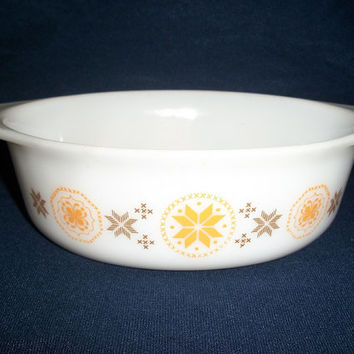 """Vtg Pyrex """"Town & Country"""" (No. 043) Oval Casserole Baking Dish (1.5 qts)"""