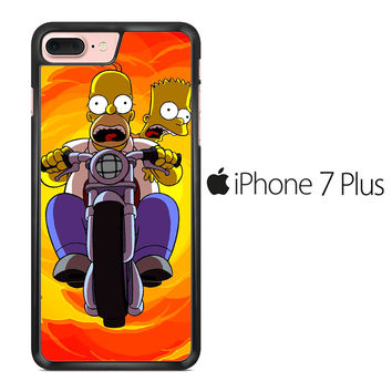 Tv Show The Simpsons Bart And Homer iPhone 7 Plus Case