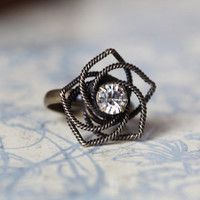 be my star flower ring in brass - $9.99 : ShopRuche.com, Vintage Inspired Clothing, Affordable Clothes, Eco friendly Fashion