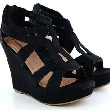 NEW Woman Gladiator Wedge Sandal~Open Toe High Heel Women Platform Strappy Shoe
