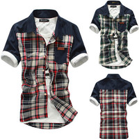 Summer New Plaid Short Sleeve Shirt