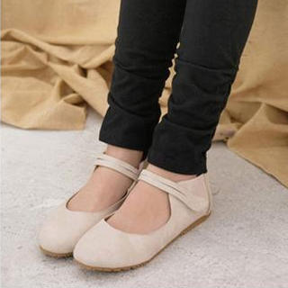 YESSTYLE: Smoothie- Mary Jane Flats (Beige - 38) - Free International Shipping on orders over $150