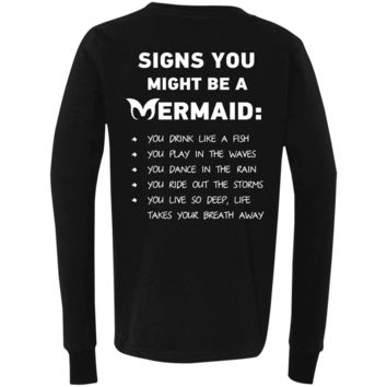Signs You Might Be A Mermaid Youth Jersey LS T-Shirt