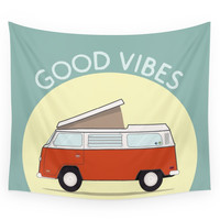 Society6 Adventure Mobile - Good Vibes Wall Tapestry