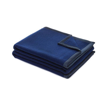 Chroma 100% Virgin Wool Blanket | Blue