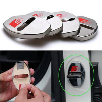 CL-VM66 Door lock cover car styling for Audi all series Q3 Q5 SQ5 Q7 A1 A3 S3 A4 A4L A6L A7 S6 S7 A8 S4 RS4 A5 S5 RS5 8T 8R