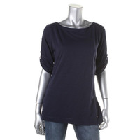 Tommy Hilfiger Womens Cotton Jewel Neck Pullover Top
