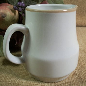 Stoneware Creamer Syrup Sauce Pitcher Vintage Ceramic Tableware Kitchen Entertaining Cottage Chic Neutral Simplicity