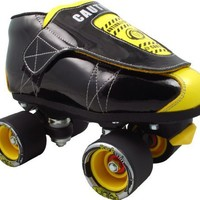 Vanilla Junior Caution Tape Jam Skates - Jr Caution Tape Speed Skates Size Mens 7 / Ladies 8
