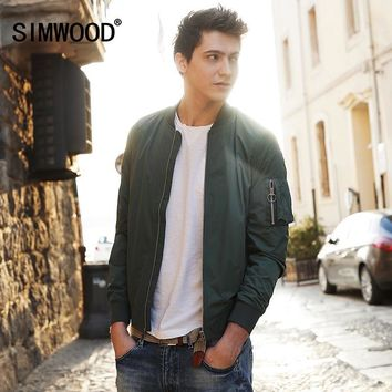 Trendy SIMWOOD 2018 New Autumn  Bomber Jacket Men Windbreaker Fashion Casual Coats Slim fit Brand Clothing  Plus Size Outerwear  WJ1664 AT_94_13