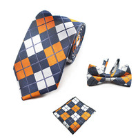 Fashion Wedding Floral Necktie & Pocket Square Towel & Bow Tie Set Men Suit Handkerchief Tie