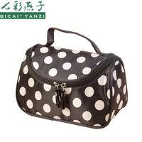 QICAI.YANZI neceser Dot Cosmetic Bag Lady Travel Organizer Accessory Toiletry Zipper 2017 Hot Sale Makeup Bag Holder Bag S386