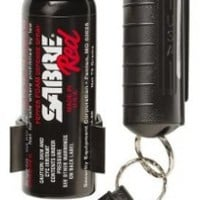 SABRE RED Pepper Spray - Police Strength - Home & Away Protection Kit (Most Popular Key Chain & Home Pepper Foam)