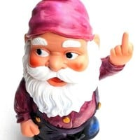 Funny Guy Mugs Middle Finger Gnome Statue