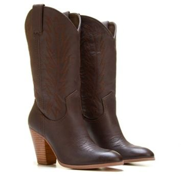 Women's Cowboy Wide Calf Boot