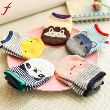 0-4 years old Fashion Unique Girls Boys Cartoon Socks Antiskid Toddler Cotton Low Socks Autumn Winter Summer Short Socks